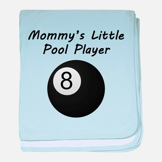 Mommys Little Pool Player baby blanket