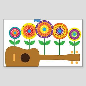 Ukulele Flower Sticker