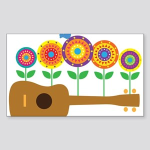 Ukulele Flower Sticker