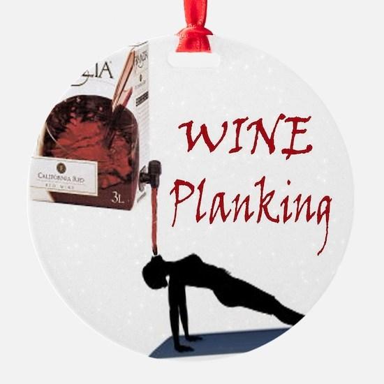Wine Planking Ornament