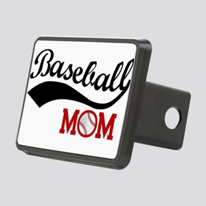Baseball Mom Red/Black Wave Hitch Cover
