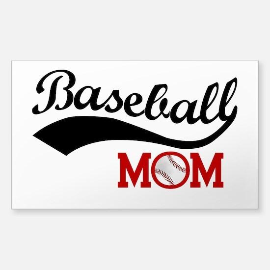 Baseball Mom Red/black Wave Decal
