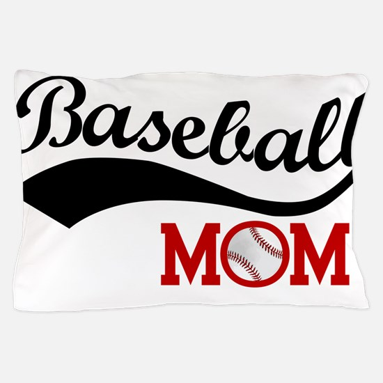 Baseball Mom Red/Black Wave Pillow Case