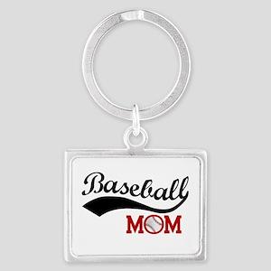 Baseball Mom Red/black Wave Keychains