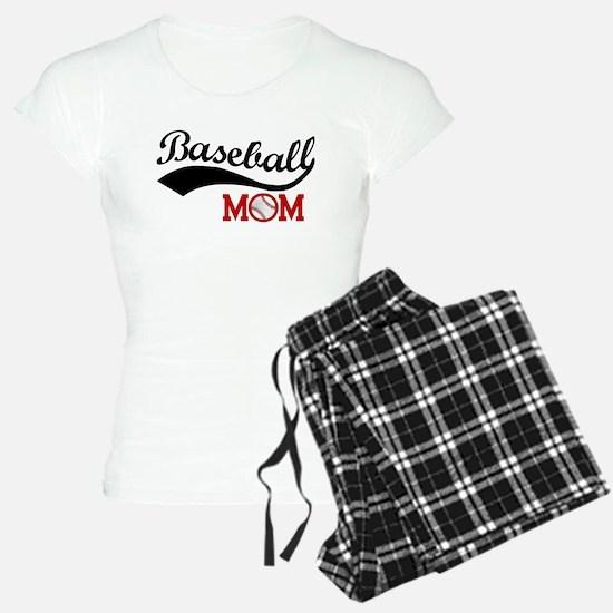 Baseball Mom Red/Black Wave Pajamas