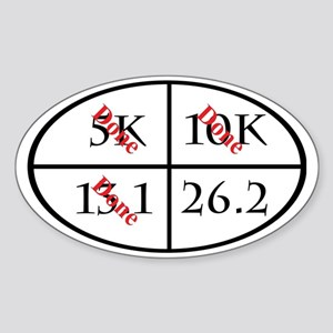 3 of 4 major running goals complete Sticker (Oval)