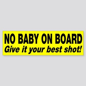no baby on board sticker bumper