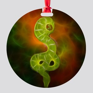 Universe Snake Round Ornament