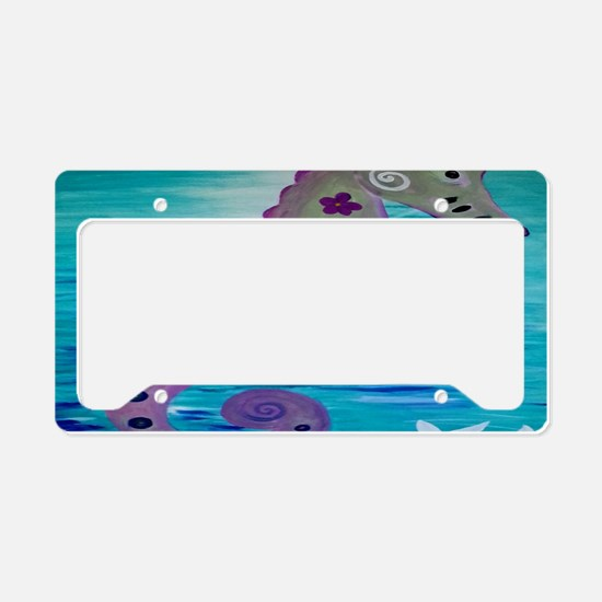Sassy Seahorse License Plate Holder