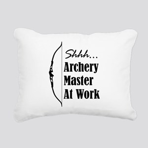 Archery Master (Recurve) Rectangular Canvas Pillow