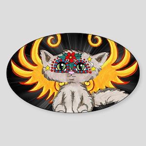Frixie, Cat Fairy Sticker (Oval)