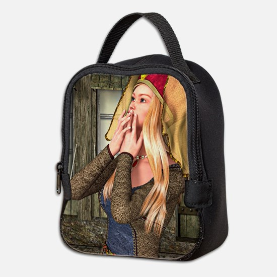 Medieval Lady Neoprene Lunch Bag