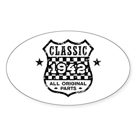 Classic 1942 Sticker (Oval)