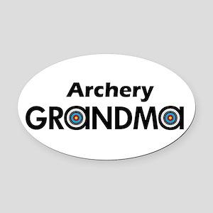 Archery Grandma Oval Car Magnet