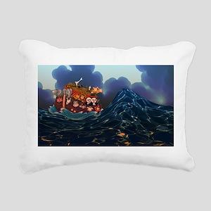 Noahs Ark Rectangular Canvas Pillow