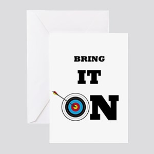 Target shooting greeting cards cafepress bring it on archery target greeting cards m4hsunfo