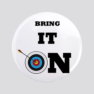 """Bring It On Archery Target 3.5"""" Button"""