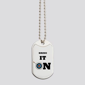 Bring It On Archery Target Dog Tags