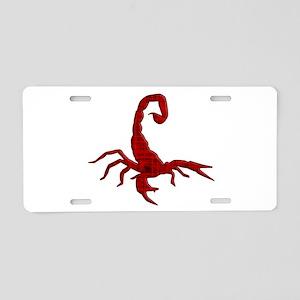 Scorpion Aluminum License Plate