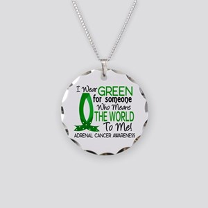 Means World to Me 1 Adrenal Necklace Circle Charm