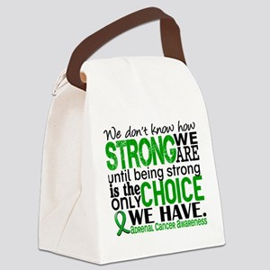 How Strong We Are Adrenal Cancer Canvas Lunch Bag