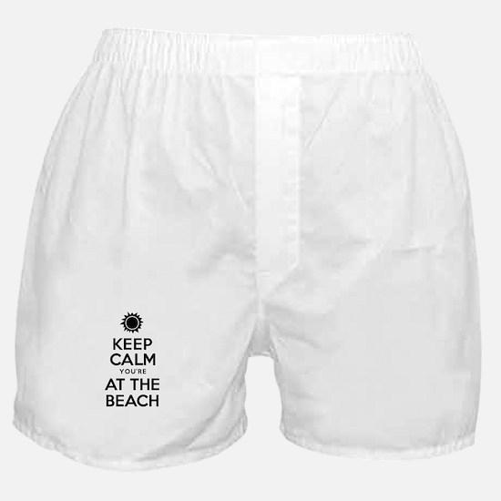 Keep Calm At Beach Boxer Shorts