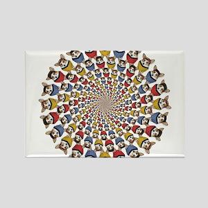 Geo ST Dott mix circle feet in Rectangle Magnet