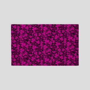Pink Clover 3'x5' Area Rug