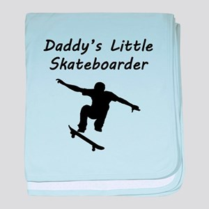 Daddys Little Skateboarder baby blanket