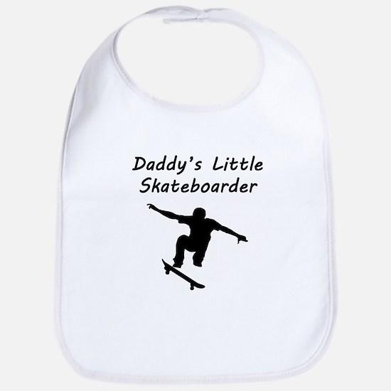 Daddys Little Skateboarder Bib