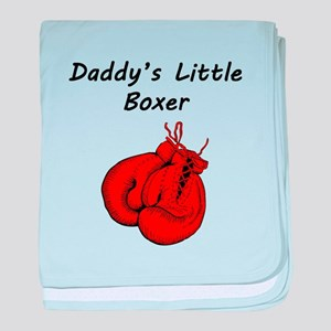 Daddys Little Boxer baby blanket