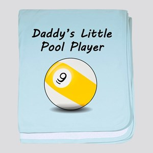 Daddys Little Pool Player baby blanket