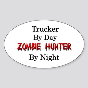 Trucker/Zombie Hunter Sticker (Oval)