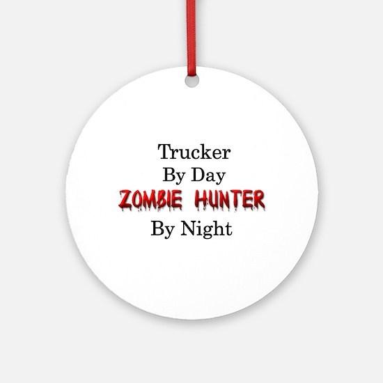 Trucker/Zombie Hunter Ornament (Round)