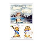 """Abrahamster in Alaska Mini Poster Print 11X17"""""""