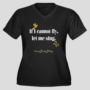 If I cannot  Women's Plus Size V-Neck Dark T-Shirt