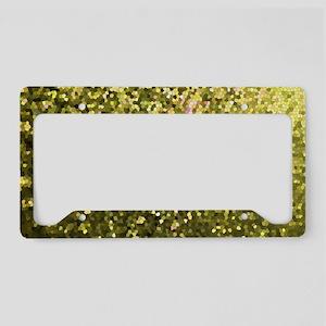 Gold Mosaic Sparkley 1 License Plate Holder