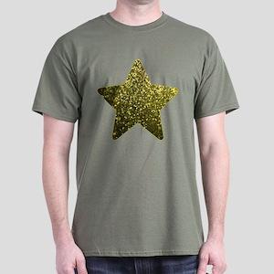 Dark T-Shirt Gold Mosaic Sparkley 1