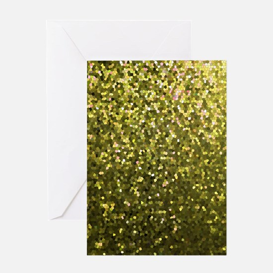 Gold Mosaic Sparkley 1 Card Greeting Cards