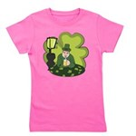 St Patricks Day Man with Beer Girl's Tee