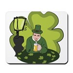 St Patricks Day Man with Beer Mousepad