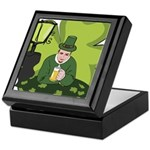 St Patricks Day Man with Beer Keepsake Box