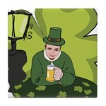 St Patricks Day Man with Beer Tile Coaster