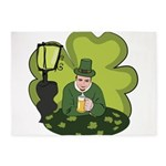 St Patricks Day Man with Beer 5'x7'Area Rug