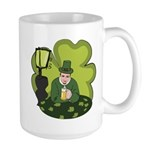 St Patricks Day Man with Beer Mugs