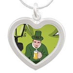 St Patricks Day Man with Beer Necklaces
