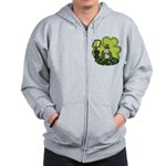 St Patricks Day Man with Beer Zip Hoodie
