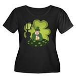 St Patricks Day Man with Beer Plus Size T-Shirt