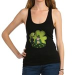 St Patricks Day Man with Beer Racerback Tank Top