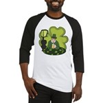 St Patricks Day Man with Beer Baseball Jersey